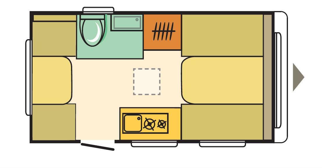 Adria AVIVA 370 DD - Plano - Distribución