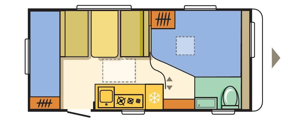 Adria AVIVA 472 PK - Plano - Distribución