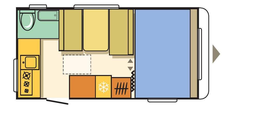 Adria AVIVA 442PH - Plano - Distribución