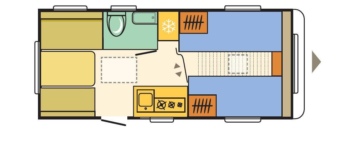 Adria AVIVA 492 LU - Plano - Distribución