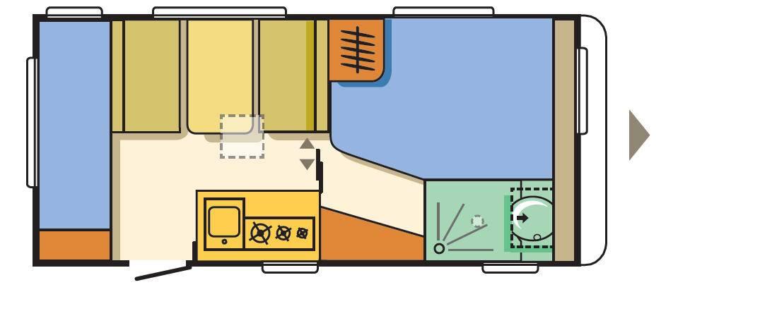 Adria ALTEA 472 PK - Plano - Distribución