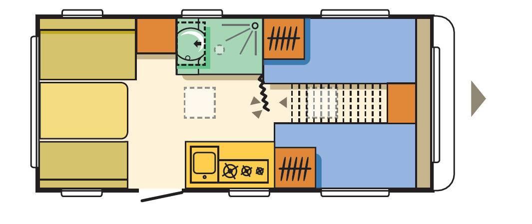Adria ALTEA 492 LU - Plano - Distribución