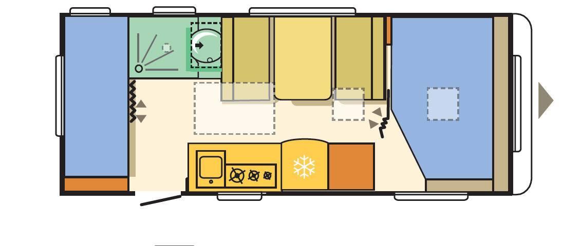 Adria ALTEA 542 PK - Plano - Distribución