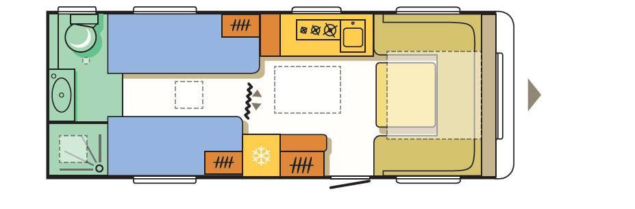 Adria ALPINA 613 UT - Plano - Distribución