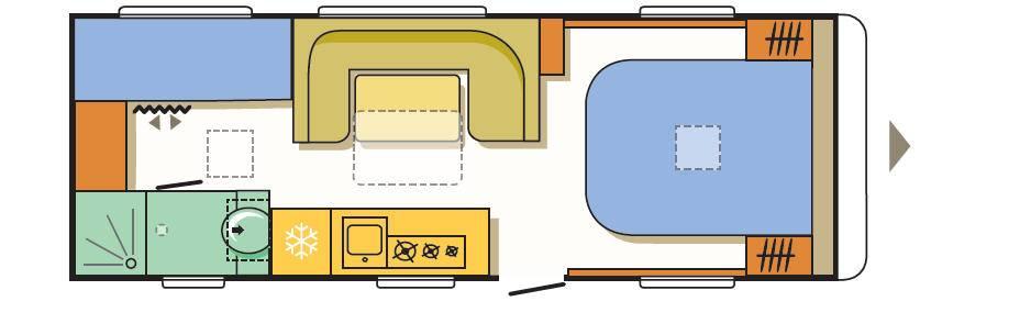 Adria ALPINA 663 PT - Plano - Distribución