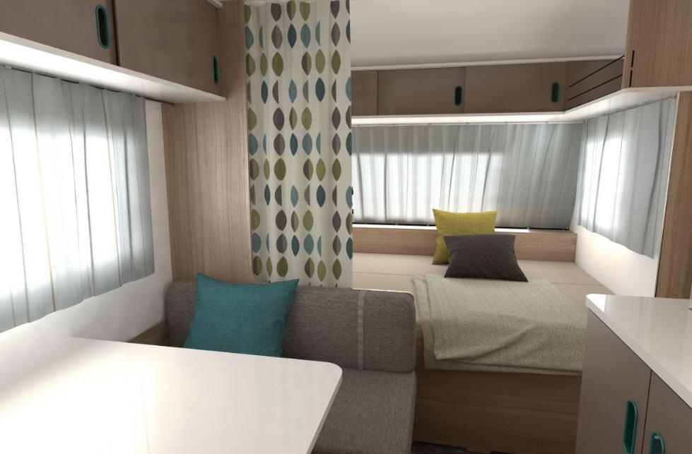 Caravana adria aviva 495 lx modelo de 2018 - Interior caravana ...