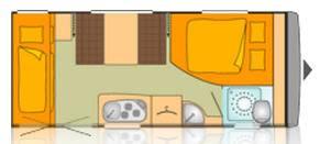 Bürstner PREMIO 485 TK - Plano - Distribución