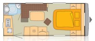 Bürstner AVERSO 455 TS - Plano - Distribución