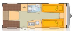 Bürstner AVERSO 535 TL - Plano - Distribución