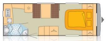Bürstner AVERSO 545 TS - Plano - Distribución