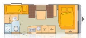 Bürstner AVERSO 560 TK - Plano - Distribución