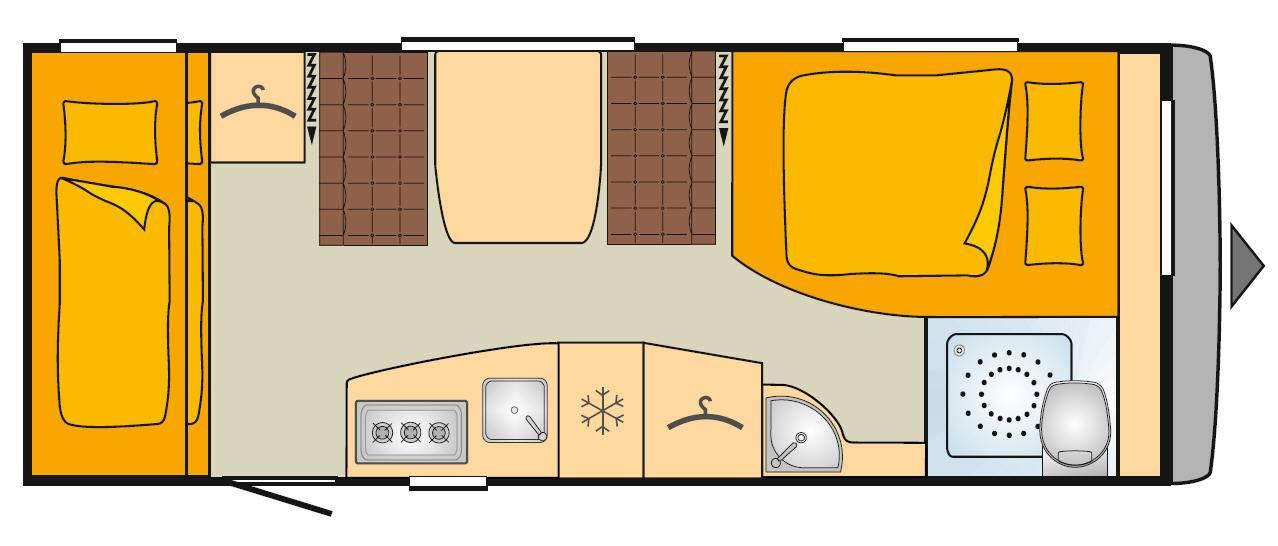 Bürstner Averso 520 TK - Plano - Distribución