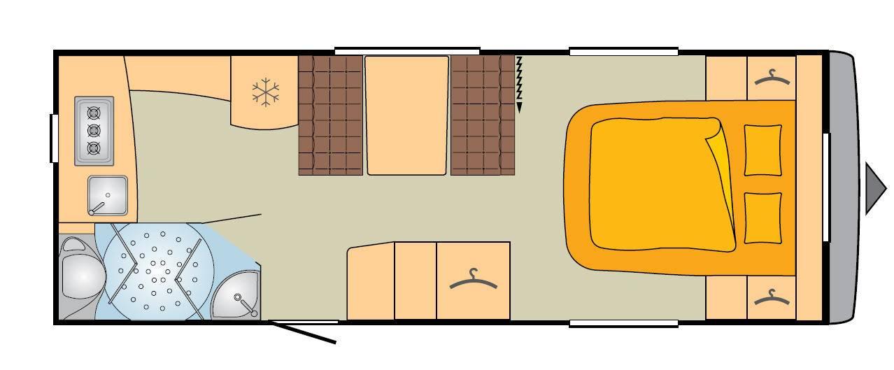 Bürstner Averso Top 545 TS - Plano - Distribución
