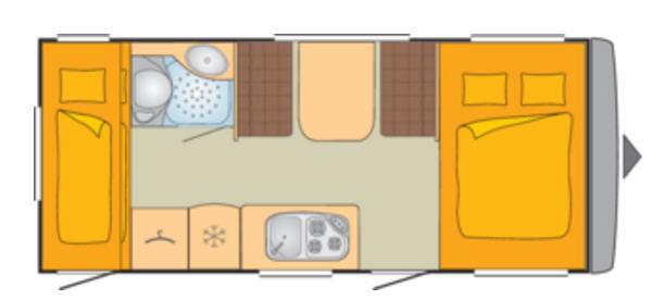 Bürstner PREMIO 495 TK - Plano - Distribución