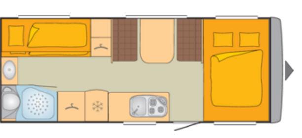 Bürstner PREMIO 530 TK - Plano - Distribución