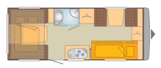 Bürstner PREMIO PLUS 510 TK - Plano - Distribución