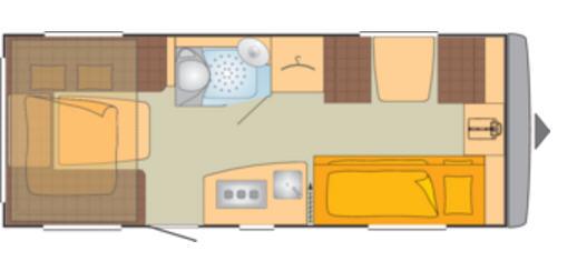 Bürstner AVERSO PLUS 510 TK - Plano - Distribución