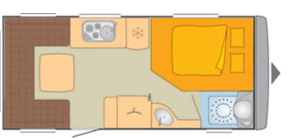 Bürstner AVERSO 490 TS - Plano - Distribución