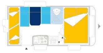 Caravelair ANTARES LUXE 426 - Plano - Distribución
