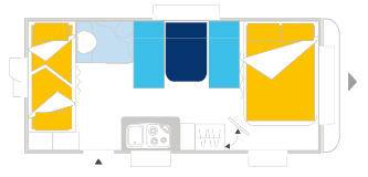 Caravelair ANTARES LUXE 526 - Plano - Distribución