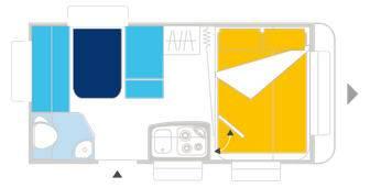 Caravelair ALLEGRA 390 - Plano - Distribución