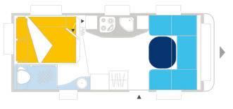 Caravelair VENICIA PREMIUM 480 - Plano - Distribución