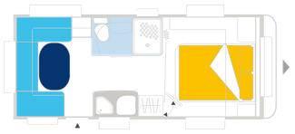 Caravelair VENICIA PREMIUM 550 - Plano - Distribución