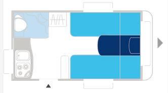 Caravelair ANTARES LUXE 372 - Plano - Distribución
