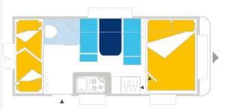 Caravelair ANTARES LUXE 486 - Plano - Distribución