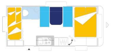 Caravelair ANTARES LUXE 527 - Plano - Distribución