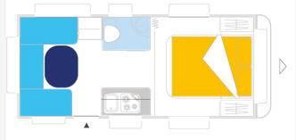Caravelair ALLEGRA 470 - Plano - Distribución