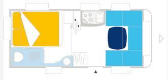 Caravelair ALLEGRA 475 - Plano - Distribución