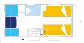 Caravelair Antares Style 450 - Plano - Distribución