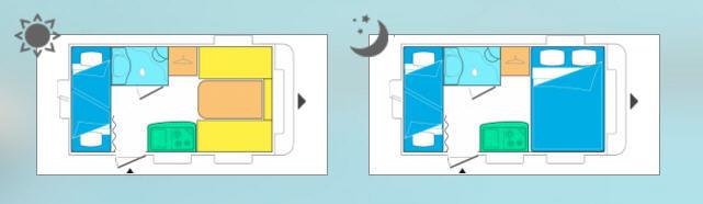 Caravelair ANTARES 376 Family - Plano - Distribución