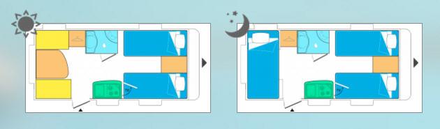 Caravelair ANTARES 450 - Plano - Distribución