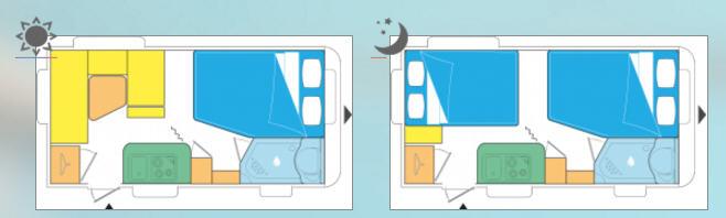 Caravelair ANTARES STYLE 420 - Plano - Distribución