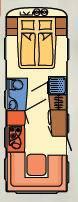 Dethleffs NOMAD 760-DR - Plano - Distribución