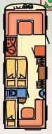 Dethleffs BEDUIN 740-RFK - Plano - Distribución