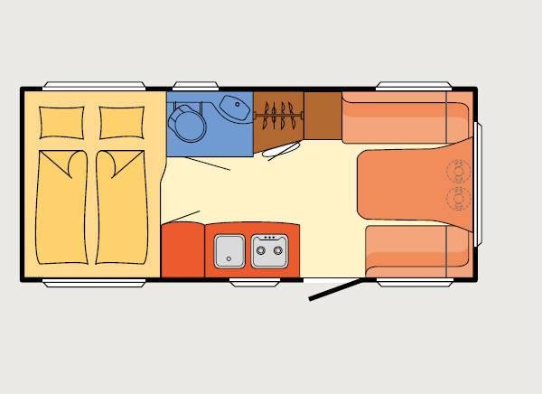 Dethleffs Tourist HD 460 DB - Plano - Distribución