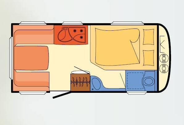Dethleffs CAMPER 450 FL - Plano - Distribución