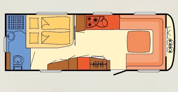 Dethleffs NOMAD 650 RFT - Plano - Distribución