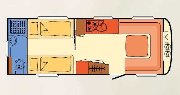 Dethleffs BEDUIN 560 RET - Plano - Distribución