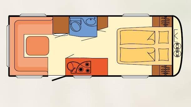 Dethleffs BEDUIN V.I.P. 600 DR - Plano - Distribución