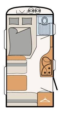 Dethleffs Camper 390 FS - Plano - Distribución