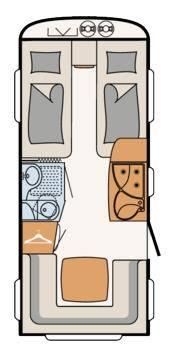 Dethleffs Camper 470 ER - Plano - Distribución