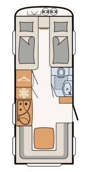 Dethleffs Camper 510 ER - Plano - Distribución