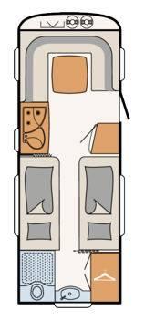 Dethleffs Camper 520 RET - Plano - Distribución