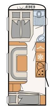 Dethleffs Camper  560 FMK - Plano - Distribución