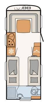 Dethleffs Camper  560 RET - Plano - Distribución
