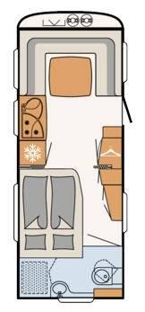 Dethleffs Camper 560 RFT - Plano - Distribución
